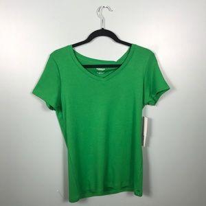 Tops -  Green V-Neck NWT